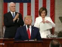 Wściekła Nancy Pelosi podarła dokument z treścią przemówienia prezydenta USA.