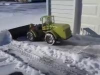 Zabawa w odśnieżanie śniegu
