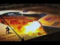 Świetny pokaz przed meczem hokeja