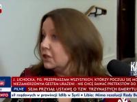 Lichocka jeszcze bardziej pogrąża się w TVPiS