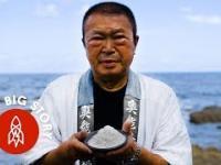 Japońska technika zbierania soli morskiej ręcznie