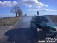 Sprawca kolizji próbuje obarczyć winą niewinnego kierowcę