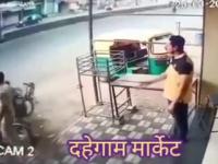 Kiedy identycznie ubrany jak rabuś, ścigany przez policjanta