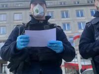 Policja nakłada 500zł nielegalnego mandatu na strajkujących przedsiębiorców!