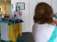 Sprzątaczki w szpitalu także zasługują na wielkie brawa