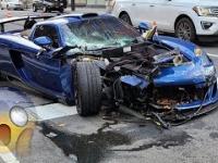 Kierowca rozbił ultra rzadkie Porsche na ulicach Nowego Jorku i próbował uciec