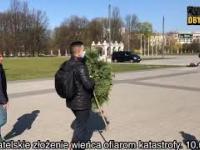 Żołnierze kradną wieniec sprzed pomnika katastrofy smoleńskiej!