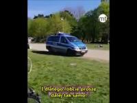 A co apeluje niemiecka policja do piknikujących w parku?