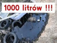 1000 litrów przepalonego oleju silnikowego w glebę