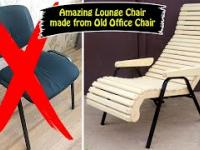 Zrobiłem piękny fotel do siedzenia ze starego brudnego krzesła biurowego.