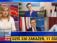 Tomasz Trela wybucha śmiechem gdy działaczka PiS zachwalała rap Dudy
