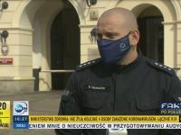 Rzecznik policji PRZYŁAPANY przez dziennikarzy. Zmiana zdania w kilka sekund