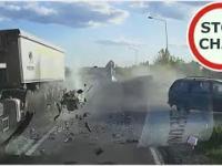 Wypadek z udziałem 4 aut w Adamówce