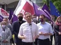 Największa fanka prezydenta Dudy przerwała wystąpienie Roberta Biedronia