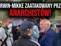 Janusz Korwin-Mikke zaatakowany przez anarchistów! Interweniowała policja