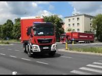 Gigantyczny konwój pojazdów z pomocą humanitarną na Białoruś