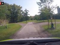 Brawurowy pościg norweskiej policji przez park