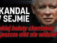 Nocne kłótnie w polskim Sejmie