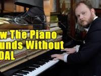 Jak brzmią popularne utwory zagrane na pianinie bez użycia pedałów?