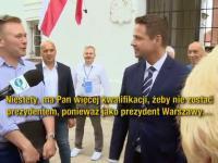 PiSowski dziennikarz udaje Amerykanina. Trzaskowski z łatwością go demaskuje