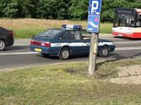 Policyjny Polonez na ulicach Gdańska