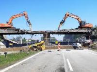 Wyburzenie wiaduktu kolejowego w Czechowicach-Dziedzicach nad DK-1 - timelapse