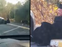 Pijany ksiądz próbuje wsiąść za kierownicę swojego auta