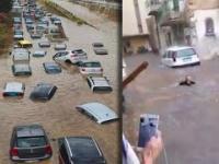 Bomba wodna spadła na Sycylię. Ulice zmieniły się w rwące rzeki, które porywały auta