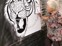 Imponujący rysunek wykonany przez babcię