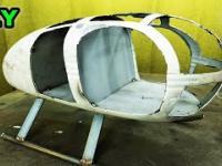 Prawdziwy Macgyver buduje helikopter ze starego złomu