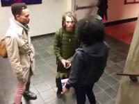 Dziewczyna atakuje na tle rasistowskim białego chłopaka