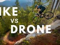 Kolarstwo górskie niezwykłe ujęcia z drona
