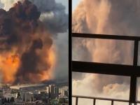 Potężny wybuch w porcie w Bejrucie (Liban)