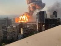 Wybuch w Bejrucie w 4k i w zwolnionym tempie