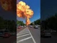 Wielka eksplozja na stacji paliw w Wołgogradzie