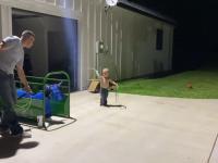 Trening przyszłęgo kowboja