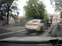 Spięcie na linii kierowca BMW - pieszy zakończone bijatyką!