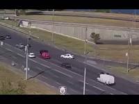 Kierowca z Ukrainy wykonał zdumiewający manewr na drodze