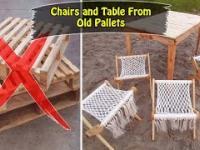 Składany stół i krzesła zrobiłem ze starych palet