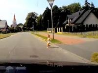 Dziecko na drodze - głupia babo ty jedna!