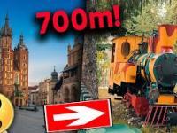 Zagadkowa lokomotywa w centrum Krakowa - historia Młodzieżowej Kolejki Wąskotorowej
