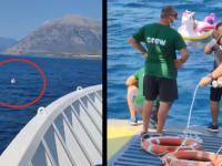 Mała dziewczynka uratowana przez załogę greckiego promu