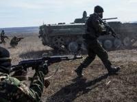 Starcie transporterów separatystów z czołgami Ukrainy