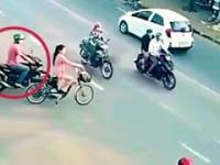 Próba kradzieży na ruchliwym skrzyżowaniu