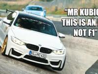 Robert Kubica w BMW M4 na torze w Nordschleife