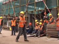 Michael Jackson na budowie