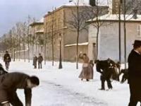 Bitwa na śnieżki w roku 1896 (i to w kolorze)
