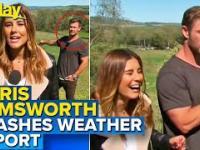 Chris Hemsworth zaskoczył pogodynkę