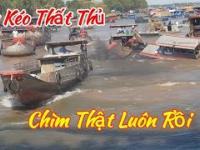 Korek na kanale wodnym w Wietnamie
