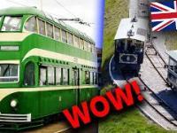 Najbardziej UNIKATOWE tramwaje w Europie - sieć tramwajowa w Wielkiej Brytanii - kiedyś i dziś ????????????